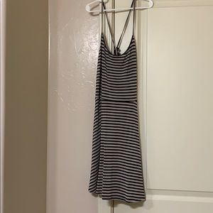 Forever 21 Black and Tan striped dress